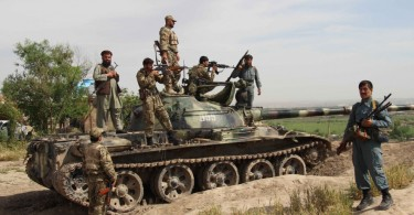 Afghan security personnel prepare for a operation against Taliban militants in Kunduz province on April 19, 2016.    Afghan security forces drove Taliban fighters back from Kunduz city, officials said, as the insurgents began the 2016 fighting season by targeting the northeastern provincial capital they briefly captured last year.  / AFP / NASIR WAQIF        (Photo credit should read NASIR WAQIF/AFP/Getty Images)