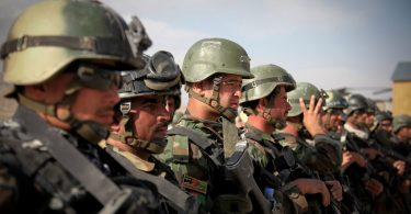 Afghan Commandos prepare for an air assault mission from Forward Operation Base Airborne, Afghanistan, on Sept. 28.