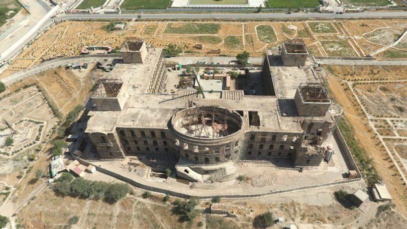 قصر دارالامان در حال بازسازی