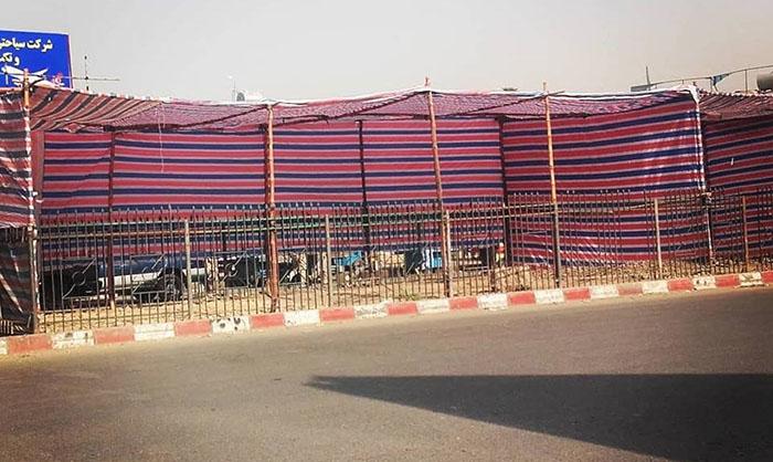 آمادگی دستفروشان در غرب کابل