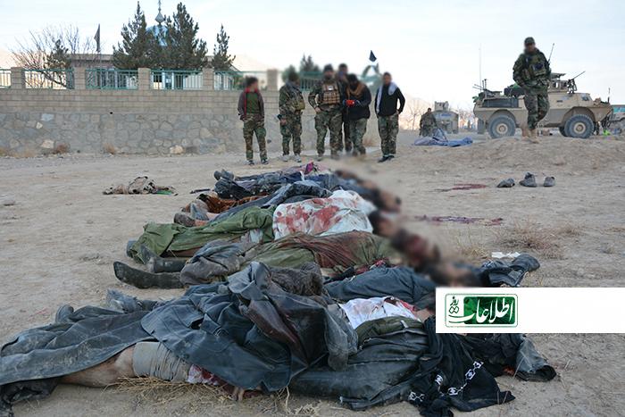 جسد ده طالب که توسط نیروهای امنیتی در مربوطات رسنه کشته شده بودند