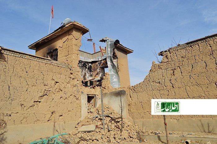 قسمتی از برج جنرال باشیحبیبالله که در حملهی طالبان بر جاغوری آسیب دیده است