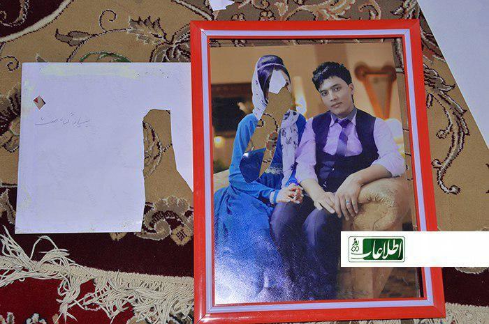 عکس پسر و عروس عوضعلی که طالبان پاره کردهاند