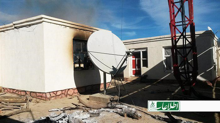 جریان آتشسوزی یک پایهی مخابراتی شبکهی سلام در پاتو