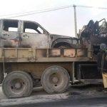 فاریاب، بزنگاه طالبان؛ یک کاروان نظامی در آتش طالبان سوخته است
