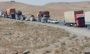 اعتراض رانندگان موترهای باربری در شاهراه کابل-قندهار: «پولیس بهخاطر بیست افغانی آدم میکشد»