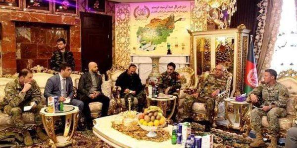میلر و خالد در سفری به جوزجان با دوستم در مورد امنیت شمال صحبت کردند