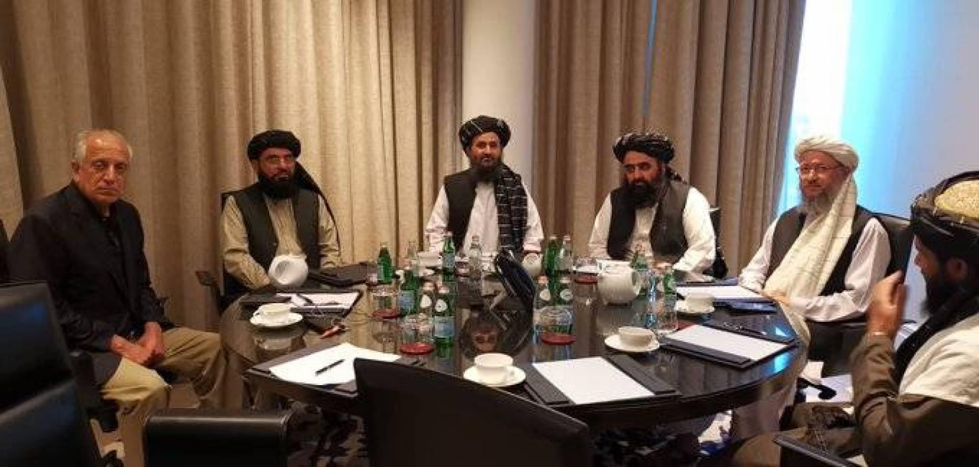 دیدار خلیلزاد با اعضای دفتر سیاسی طالبان در قطر