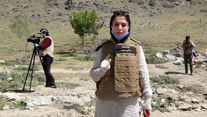 انیسه شهید خبرنگار طلوع نیوز / عکس: شبکههای اجتماعی