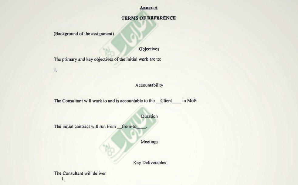 در پیوست «A» در مورد وظایف و مسئولیتهای آقای احمدی چیزی نگفته است.