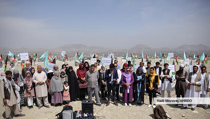 همایش اعتراضی بازماندگان قربانیان جنگ در کابل: «روند صلح باید قربانیمحور و عادلانه باشد»