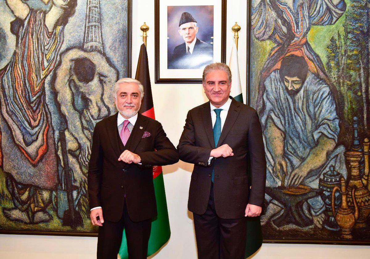 عبدالله به وزیر خارجهی پاکستان: افزایش خشونت به تلاشهای صلح ضربه میزند