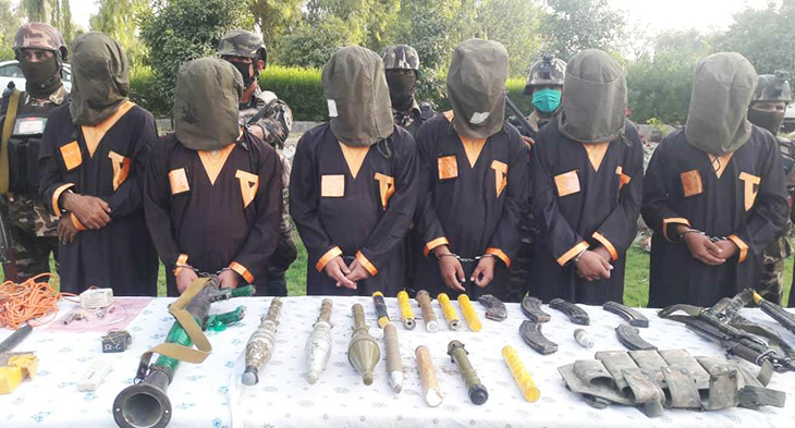 جلوگری از یک حملهی انتحاری در ننگرهار؛ هفت عضو داعش بازداشت شدند