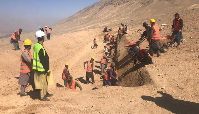 این پروژه برای 32 هزار نفر شغل ایجاد کرده است - عکس از فیسبوک شرکت انکشاف ملی