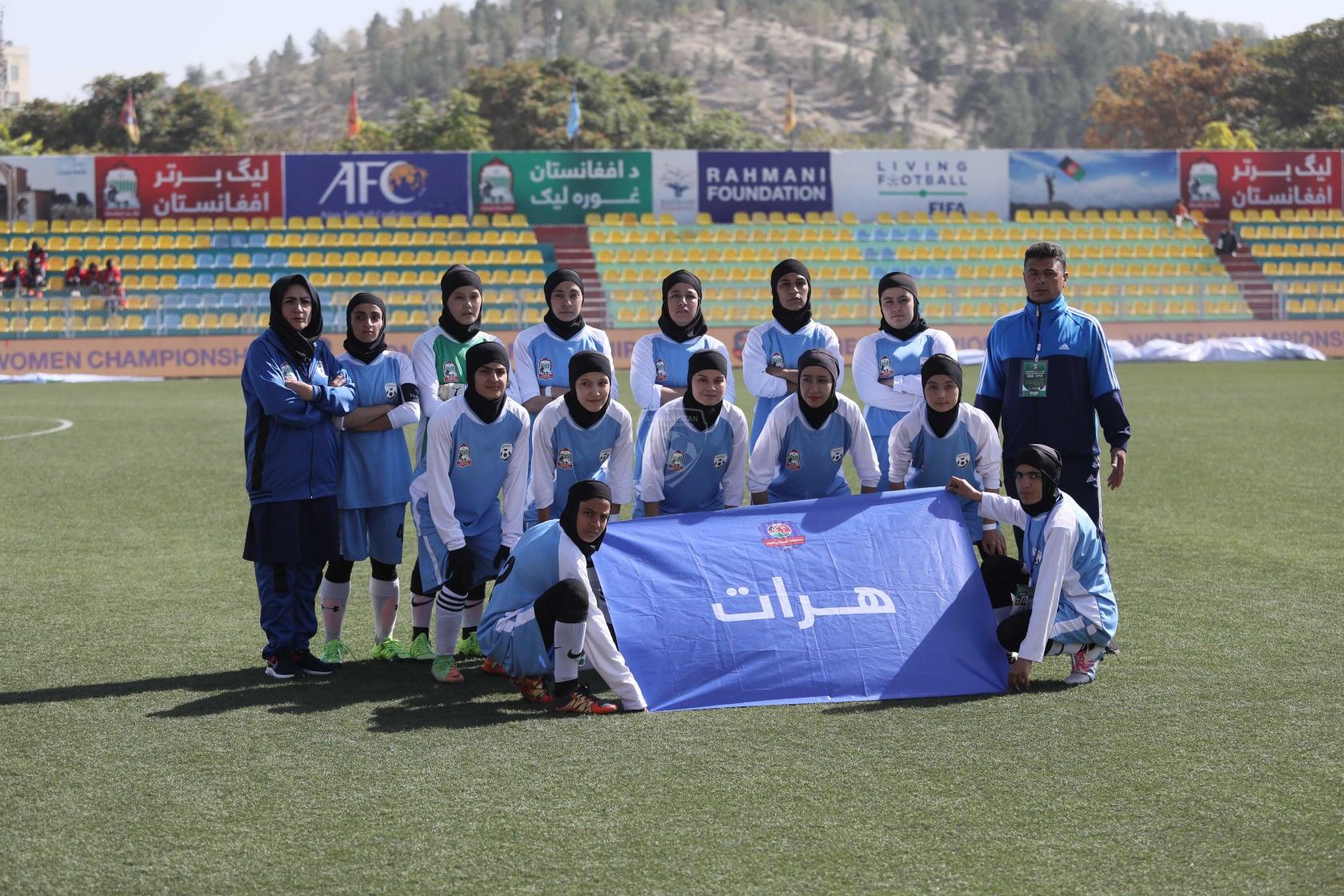 قهرمانی تیم فوتبال دختران هرات در فصل چهارم رقابتهای لیگ برتر بانوان