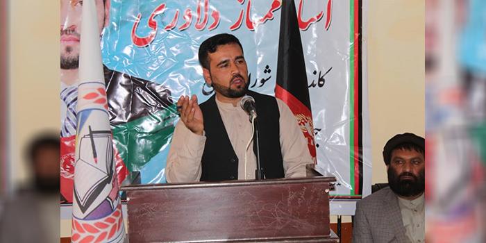ممتاز دلاوری، کاندیدا برای عضویت در شورای عالی جوانان از ولسوالی بگرام ولایت پروان – عکس ارسالی به اطلاعات روز