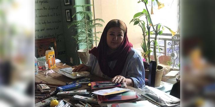 سمیرا سادات، موسس یک شرکت خدماتی در کابل