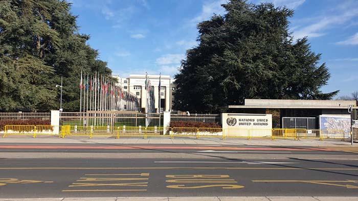 مقر سازمان ملل متحد در شهر ژنوی سویس، جایی که نشست ژنو در بارهی افغانستان برگزار شده است – منبع عکس: وزارت مالیه