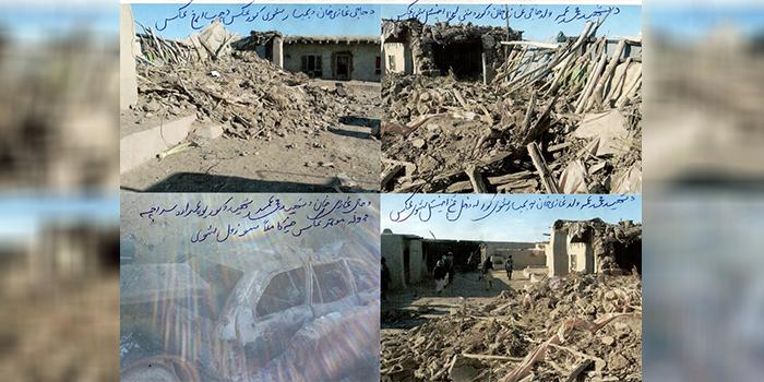 در این رویداد بخشهای از خانه و وسایل این خانواده با بمب تخریب و به آتش کشیده شده است/ عکس: ارسالی به اطلاعات روز
