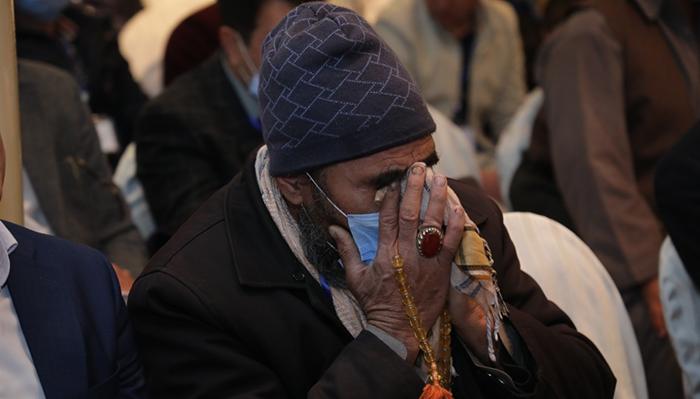 یکی از اعضای خانواده شبکه ملی قربانیان در روز همایش ملی ملی قربانیان جنگ