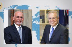 تماس تلفنی اشرف غنی با نخستوزیر استرالیا