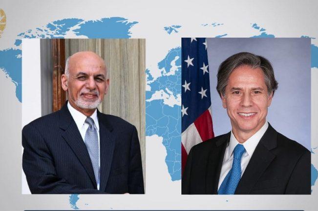 تماس تلفنی غنی با آنتونی بلینکن، وزیر خارجهی امریکا