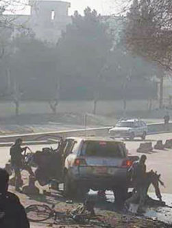 انفجار در جادهی دانشگاه کابل