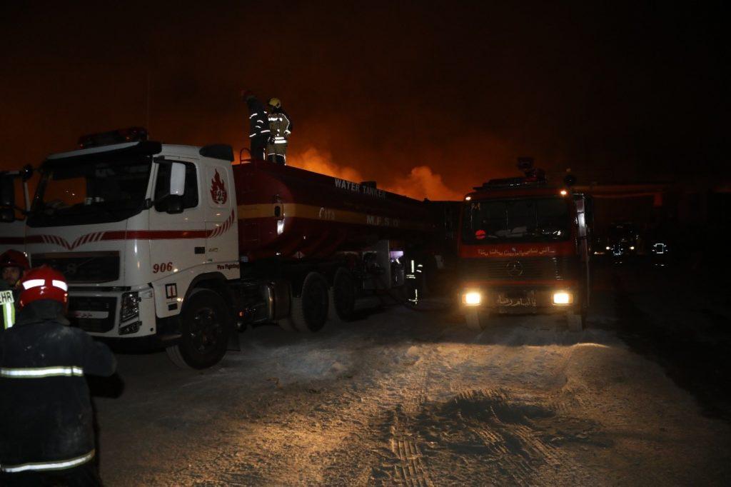 آتشسوزی در گمرک اسلامقلعه هرات