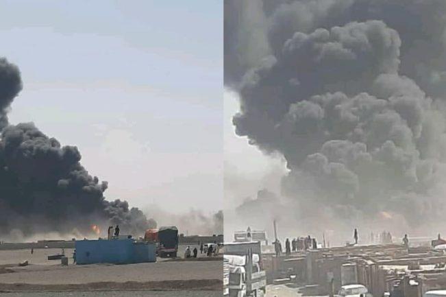 آتشسوزی در گمرک ابونصر فراهی
