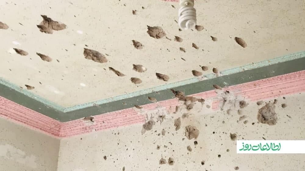 برخورد مرمی راکت بر خانهی حبیبالله غوریانی