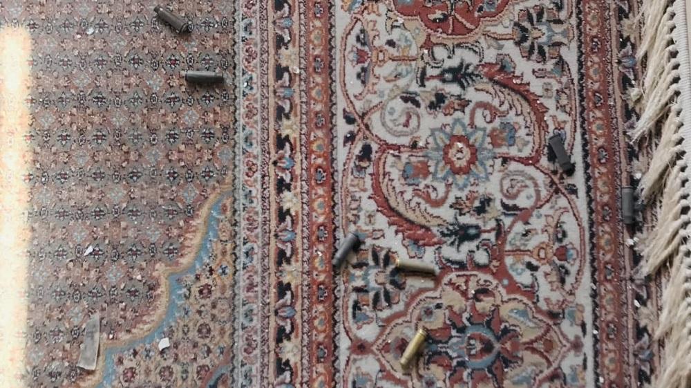 بقایای شلیک مرمی در خانهی حبیبالله غوریانی