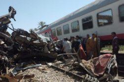 تصادف دو قطار مسافربری در مصر