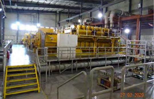 نمایی از دستگاه تولید برق دیزیلی ترهخیل – عکس از گزارش سیگار گرفته شده است