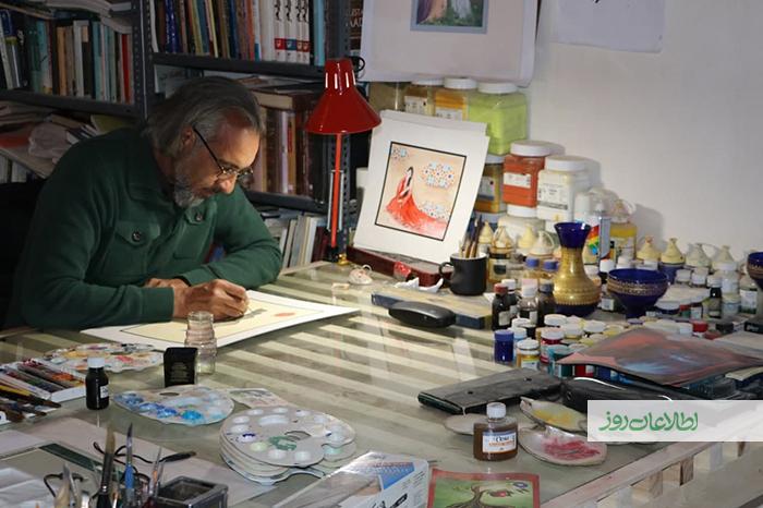عبدالناصر صوابی، تسلط در هنر مینیاتوری را به محمدسعید مشعل، یکی از مطرحترین مینیاتوریستهای افغانستان مدیون است.