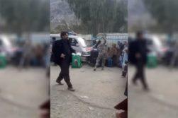 لتوکوب یک زن توسط پولیس