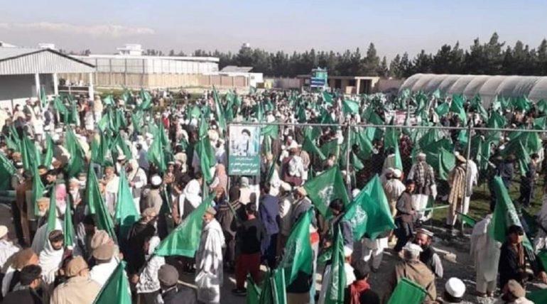 تظاهرات هواداران حزب اسلامی در کابل