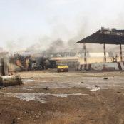 آتشسوزی در تأسیسات گاز