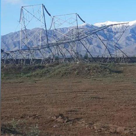 تخریب پایههای برق در کابل