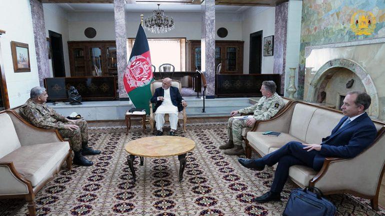 دیدار غنی با رییسان ستاد ارتش پاکستان و بریتانیا