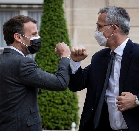 دیدار دبیرکل ناتو با رییسجمهور فرانسه