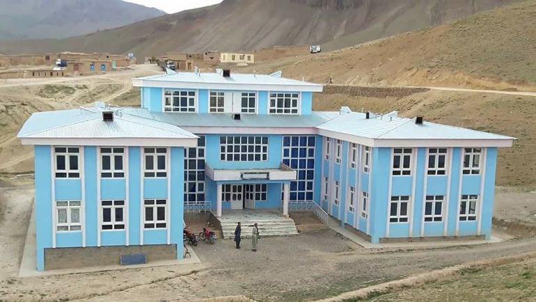 ساختمان ولسوالی ساغر که بهتازگی به کنترل طالبان درامد – عکس از شبکههای اجتماعی