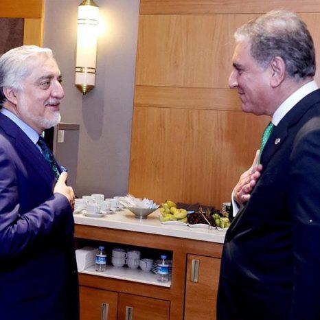 عبدالله عبدالله و شاهمحمود قریشی