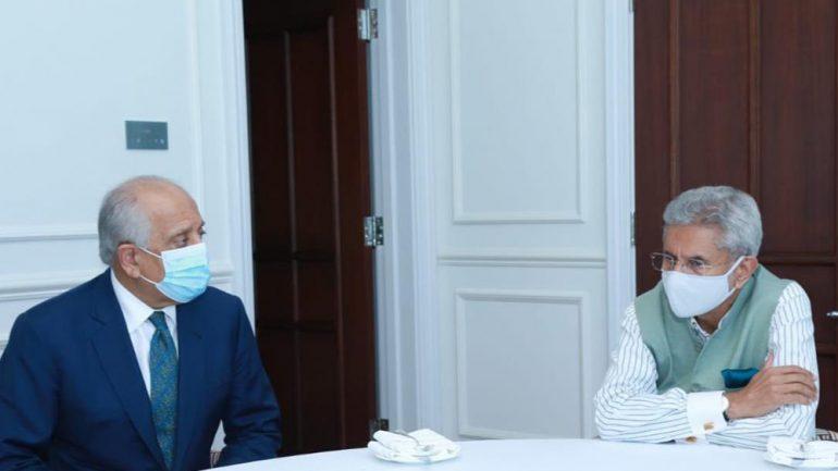 دیدار خلیلزاد با وزیر خارجه هند