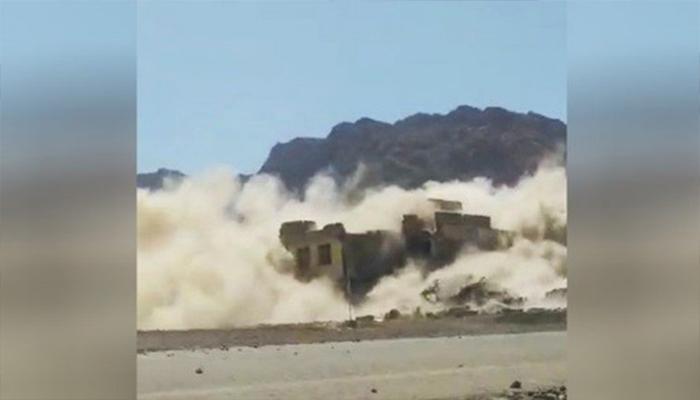 طالبان ساختمان ولسوالی اناردرهی ولایت فراه را اینگونه انفجار دادند