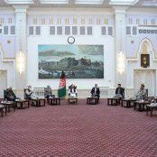 دیدار غنی با رهبران سیاسی و جهادی