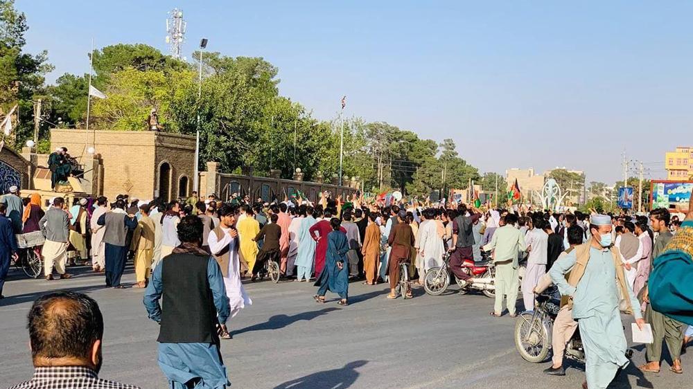 تظاهرات ضد طالبان در هرات