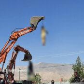 طالبان اجساد افراد متهم به سرقت را در مرکز ولسوالی اوبهی هرات آویزان کردند